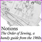 order of sewing