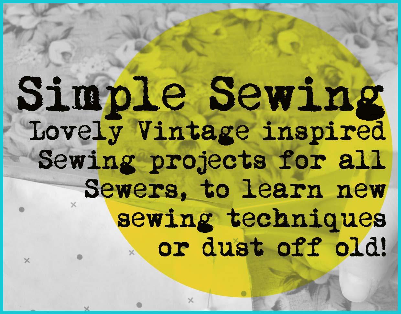 simple sewing header
