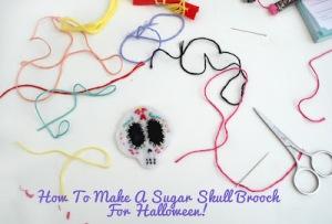 sugar skull brooch