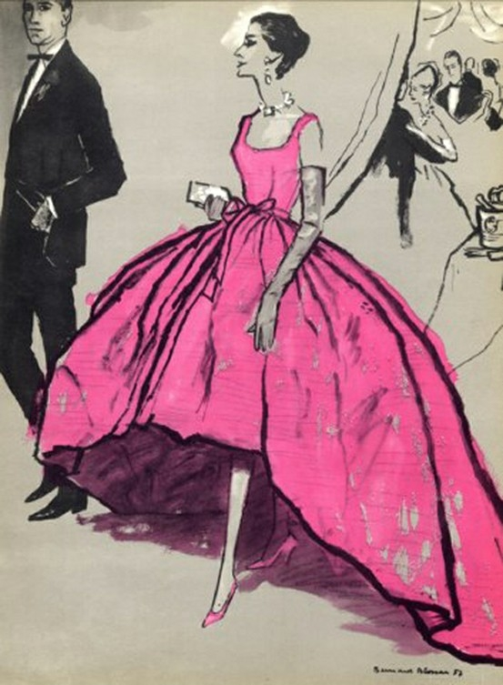 balenciaga ballgown illustration