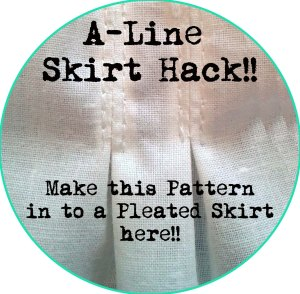 aline skirt hack