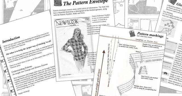 pattern zine pages