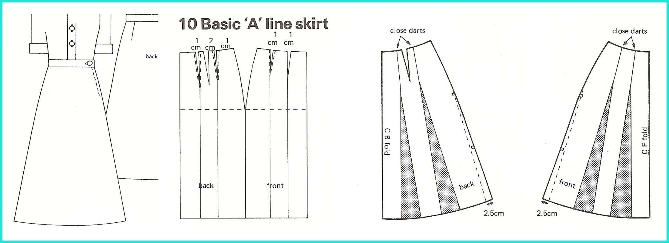 Pattern For A Line Skirt 116