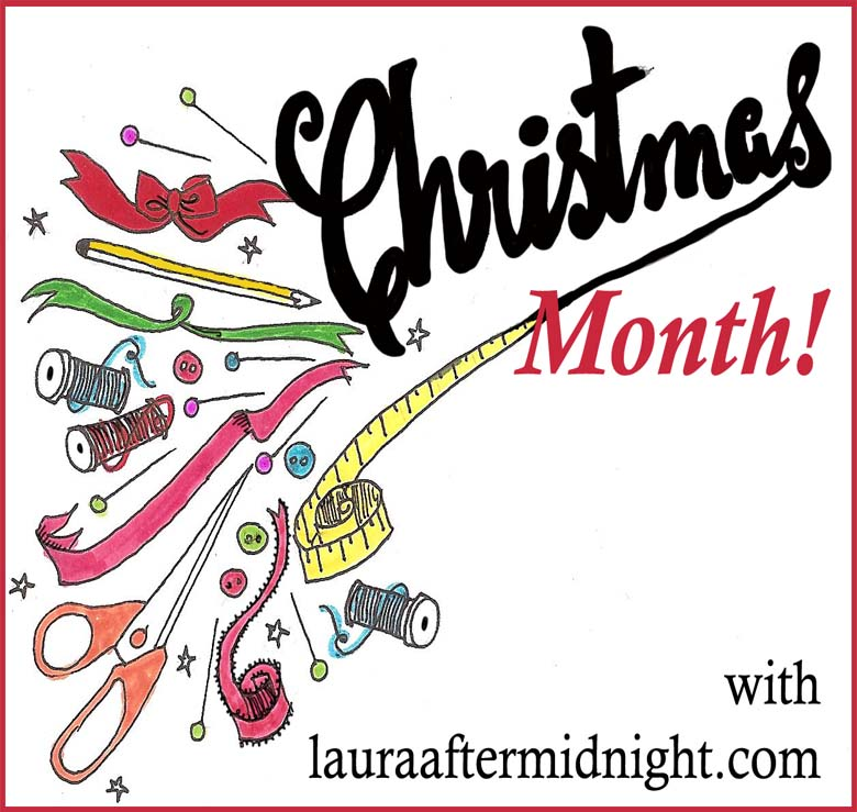 christmas month button