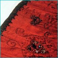Red Corset CLOSE UP TRIM